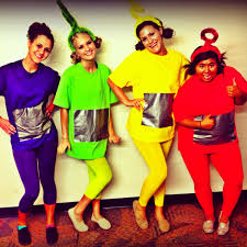 homemade teletubbies halloween costume and these are my friends