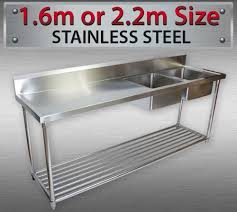Commercial Kitchen Sink Right Double Bowl Stainless Steel - Commercial kitchen sinks stainless steel