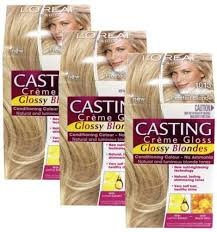 pictures pf frosted hair 3 x loreal casting creme gloss hair colour 1013 very light frosted