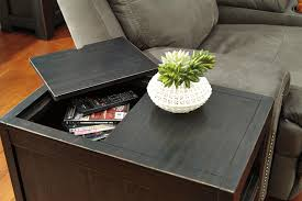 Chair Side End Table Chair Side End Table With Lift Up Lid U0026 Built In Power Outlet By