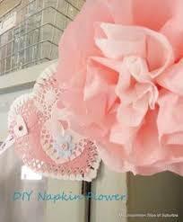 paper napkin flower tutorial diy paper flower poofs diy paper flower and craft