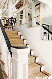 interior fabulous half turn staircase design using natural