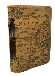 Leather Map Handmade World Map Embossed Leather Journal Notebook Leather Dairy