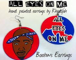 tupac earrings 2pac etsy
