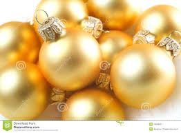 gold baubles stock image image 16560521