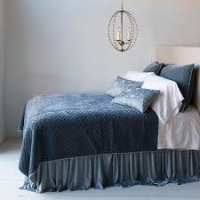 bella notte linens silk velvet quilted coverlet luxury