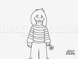 draw asriel dreemurr undertale step step drawing sheets