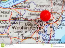 Map Of Washington by Pin On A Map Of Washington Stock Photo Image 55995272