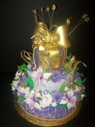 purple and gold 50th birthday cake cakecentral com