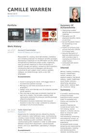 Sales Coordinator Resume Sample by Account Coordinator Resume Samples Visualcv Resume Samples Database