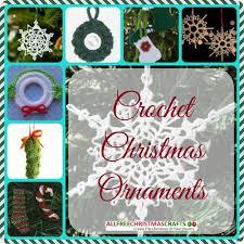 12 crochet ornaments allfreechristmascrafts