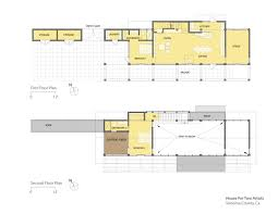 veterinary clinic floor plans gallery of house for two artists marcy wong donn logan