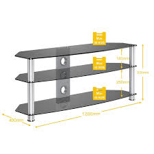 Tv Stands For 50 Inch Flat Screen Fitueyes Black Tempered Glass Metal Corner Flat Screen Tv Stand