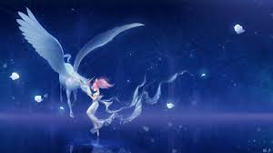picture sailor moon little girls pegasus unicorns wings bishoujo
