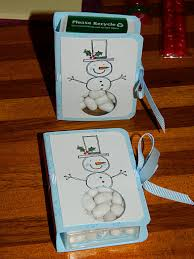 12 days of christmas day 9 tic tac holder using stampin u0027 up