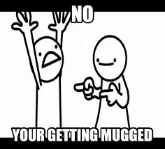 Asdf Movie Memes - asdf mugged by dinochickrox on deviantart