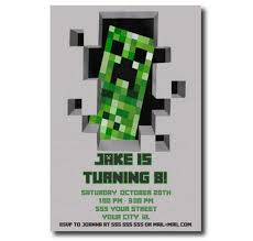 minecraft birthday invitations new minecraft birthday party invitations for additional birthday