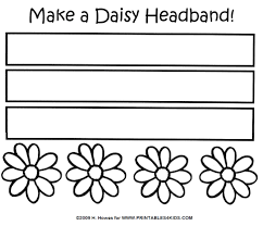 daisy headband craft printables for kids u2013 free word search