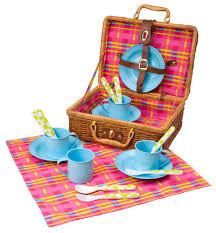 picnic basket set for 4 alex toys picnic basket toys