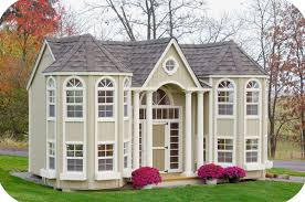 10x16 diy little cottage company grand portico wooden playhouse is