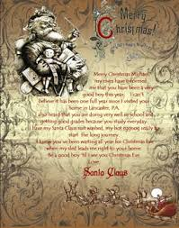 personalized letter from santa children s personalized letter from santa and baby s christmas