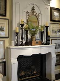 decorating fireplace mantels with high ceilings amys office