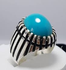 real stone rings images Dark blue feroza ring turquoise rings nishapuri by ringswear on zibbet jpg