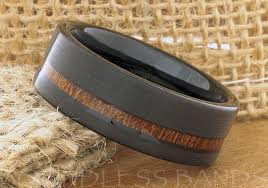koa wedding bands tungsten ring tungsten wedding ring wedding band koa