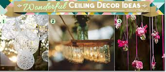 creative ceiling decor ideas for your wedding from whimsical to