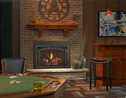 living room exciting fireplace inserts with brick surround and exciting fireplace inserts with brick surround and bar stool also area rug for bar and game room