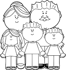 parents and kids image kids coloring page wecoloringpage