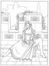 gothic coloring page fantasy coloring pages for adults
