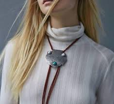 leather necklace tie images Free people montana bolo tie necklace genuine leather fringe and jpg