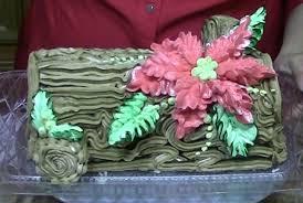 poinsettia yule log cake how to decorate cake decorating