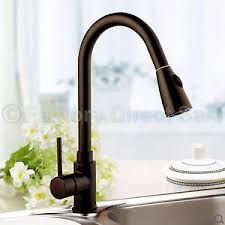 Brown Kitchen Sink Pull Out Faucet Spray Swivel 16 Kitchen Sink Brown Pull