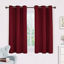 Insulated Window Curtains Burgundy Window Curtains Blackout Drapes Nicetown