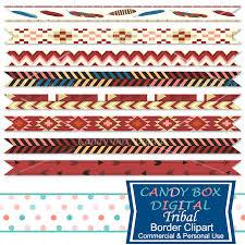 ribbon shop boho tribal ribbon border clipart indian border clip