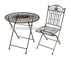 round cast iron table outdoor round cast iron folding table and chair set buy round
