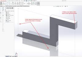 how to label solidworks coordinate points in a drawing view
