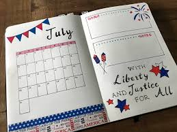 Bullet Journal Tips And Tricks by July Monthly Layout For Bullet Journal Did It In Red White And