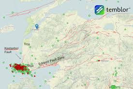 Mta Map Seismic Swarm In Turkey Gently Stresses A Major Fault Zone