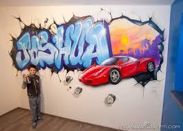 deco chambre foot chambre déco graffiti prénom en graff et trompe l u0027oeil au spray