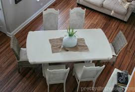 Distressed White Dining Table Pretty Distressed Eleanor U0027s Table Before U0026 After