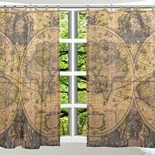 Tie Top Curtain Panels Amazon Com Alaza 2 Pcs Window Decoration Sheer Curtain Panels