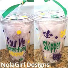 personalized mardi gras mardi gras cup nola bridal party tumblers vinyl decorated mardi