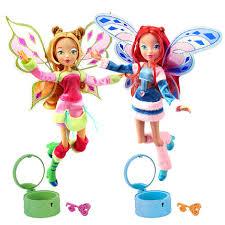 lovix fairy winx club doll rainbow colorful action figures