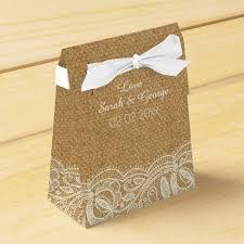 burlap wedding favor bags lace and burlap wedding favor box zazzle