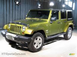 dark grey jeep 2008 jeep wrangler unlimited sahara 4x4 in rescue green metallic