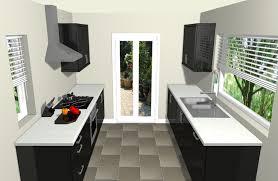 Black Galley Kitchen - avant black galley kitchen with 9 units