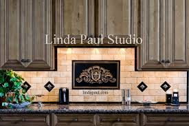 tile accents for kitchen backsplash fleur de lis plaque and kitchen backsplash tile accents